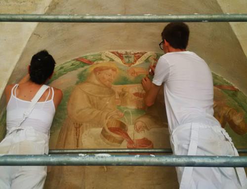 Concluso il primo lotto del restauro degli affreschi dell'ex Convento di San Panfilo