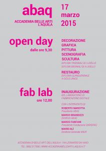 Manifesto open day e inaugurazione fab lab
