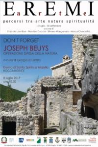 """Don't-forget-Joseph-Beuys.-""""Difesa-della-Natura""""-in-Abruzzo-e-oltre"""