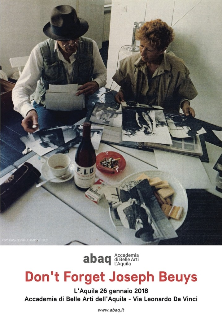 Manifesto Don't Forget Joseph Beuys ABAQ Accademia L'Aquila