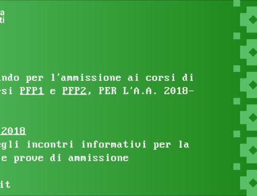 Bando di ammissione al corso di Restauro a.a. 2018-2019