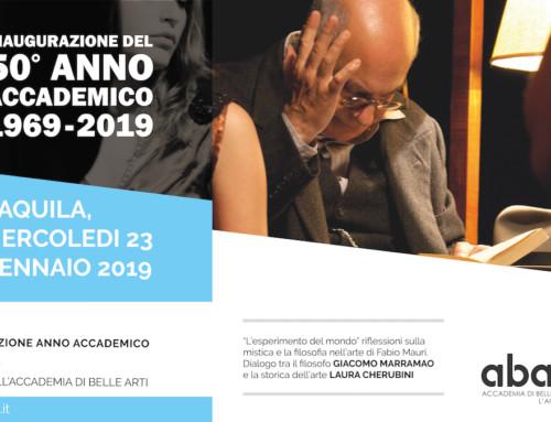 L'Accademia di Belle Arti dell'Aquila inaugura il 50° Anno Accademico