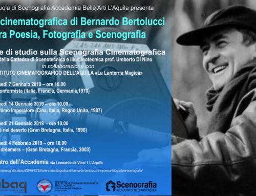 Rassegna dedicata a Bernardo Bertolucci, un ciclo di incontri e proiezioni.