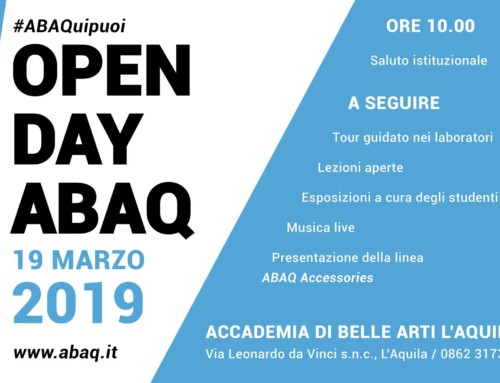 OPEN DAY ABAQ – 19 marzo 2019