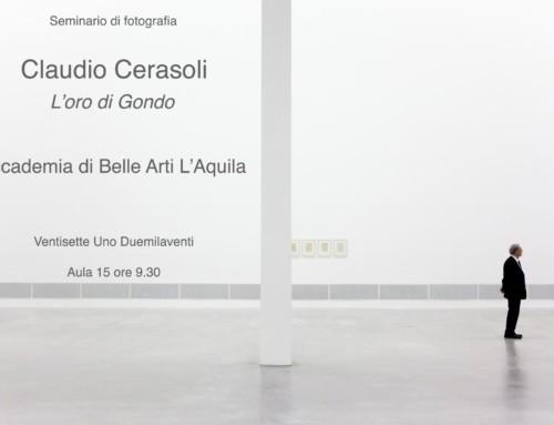 Seminario di fotografia di Claudio Cerasoli