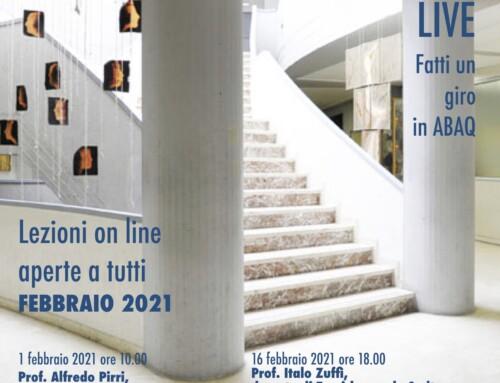 ABAQ Live – Gli appuntamenti on line dell'Accademia di Belle Arti dell'Aquila