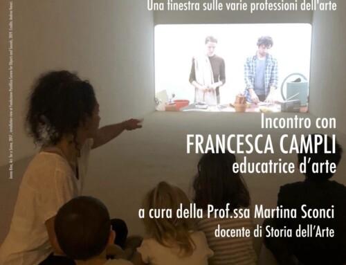PUNTI DI VISTA – Una finestra sulle varie professioni dell'arte – FRANCESCA CAMPLI