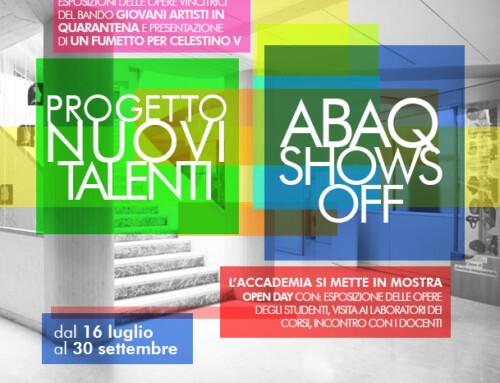 """OPEN DAY  e """"ABAQ Shows Off"""" per il fine anno dell'Accademia di Belle Arti"""