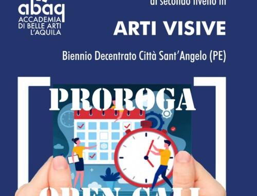 PROROGATA FINO AL 20 LUGLIO LA PRE-ISCRIZIONE AL BIENNIO DI ARTI VISIVE A CITTA' SANT'ANGELO (PE).