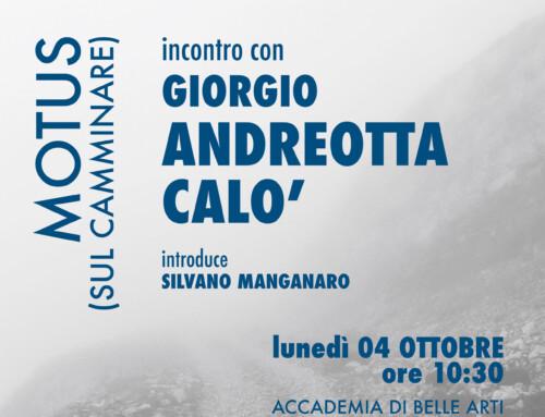 Incontro con Giorgio Andreotta Calò