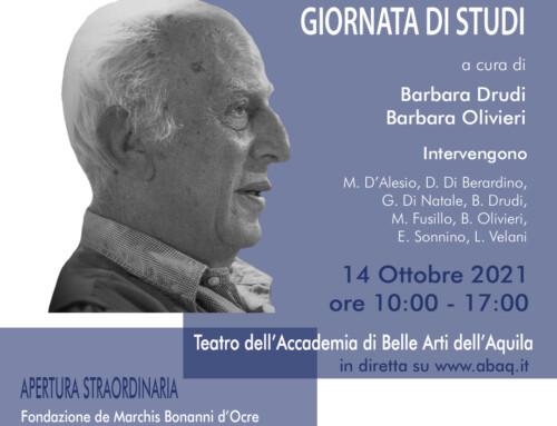 Omaggio a Giorgio De Marchis – Giornata di Studi